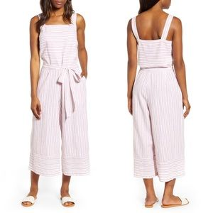 Beach Lunch Lounge Talia Jumpsuit Red Striped M
